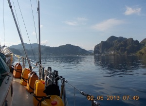 Final approach to El Nido